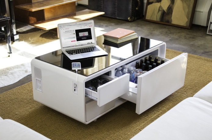 Sobro coffee table plays tracks, chills drinks, charges phones - Divinggadget.com - Science ...